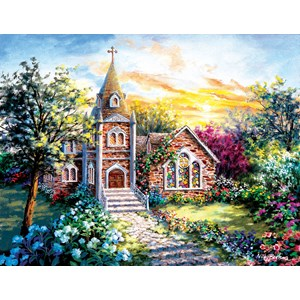 """SunsOut (19290) - Nicky Boehme: """"A Tranquil Setting"""" - 1000 piezas"""