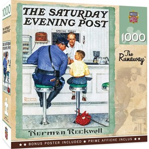 """MasterPieces (71408) - Norman Rockwell: """"The Runaway, The Saturday Evening Post"""" - 1000 piezas"""