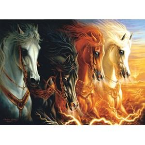 "SunsOut (68420) - Sharlene Lindskog-Osorio: ""Four Horses of the Apocalypse"" - 1500 piezas"