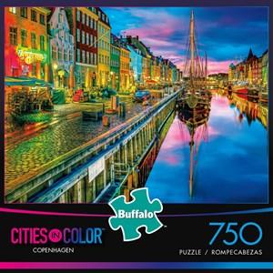 "Buffalo Games (17114) - Aimee Stewart: ""Copenhagen (Cities in Color)"" - 750 piezas"