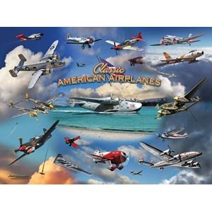 """SunsOut (24526) - Larry Grossman: """"Classic American Planes"""" - 1000 piezas"""