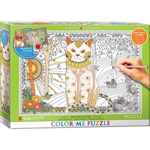 "Eurographics (6055-0888) - ""Magic Cat"" - 500 piezas"