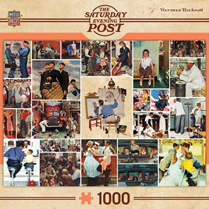"""MasterPieces (71621) - Norman Rockwell: """"Rockwell Collage"""" - 1000 piezas"""