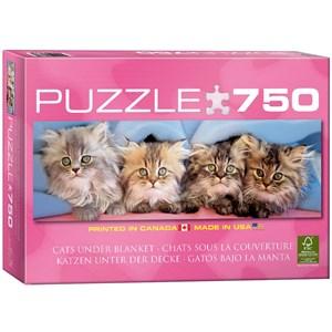 "Eurographics (6005-4678) - Takino: ""Cats Under Blanket"" - 750 piezas"