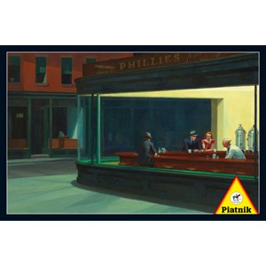 "Piatnik (538445) - Edward Hopper: ""Nighthawks, 1942"" - 1000 piezas"