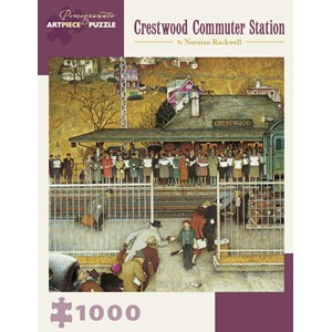 """Pomegranate (AA908) - Norman Rockwell: """"Crestwood Commuter Station"""" - 1000 piezas"""