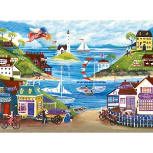 "Ravensburger (14125) - Cheryl Bartley: ""Lovely Seaside"" - 500 piezas"
