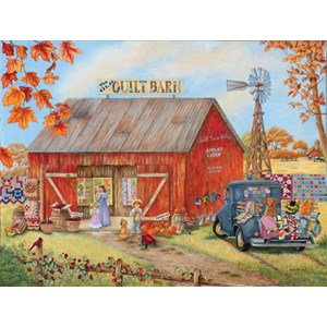 "SunsOut (52881) - Kay Lamb Shannon: ""The Quilt Barn"" - 500 piezas"