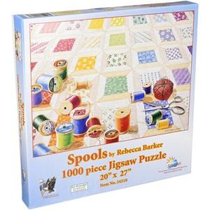 "SunsOut (24218) - Rebecca Barker: ""Spools"" - 1000 piezas"