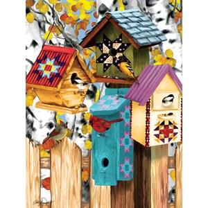 "SunsOut (12554) - Ashley Davis: ""Fall Birdhouses"" - 1000 piezas"