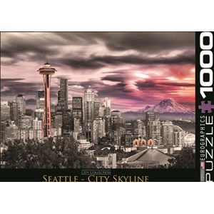 "Eurographics (6000-0660) - ""Seattle City Skyline"" - 1000 piezas"