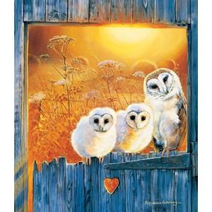 "SunsOut (36994) - Pollyanna Pickering: ""Owls in the Window"" - 550 piezas"