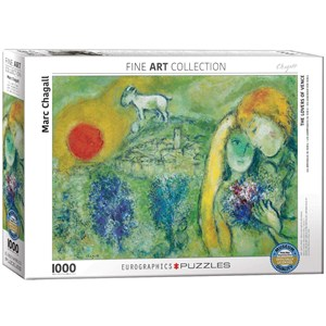"Eurographics (6000-0848) - Marc Chagall: ""The Lovers of Vence"" - 1000 piezas"