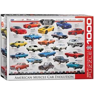 "Eurographics (6000-0682) - ""American Muscle Car Evolution"" - 1000 piezas"