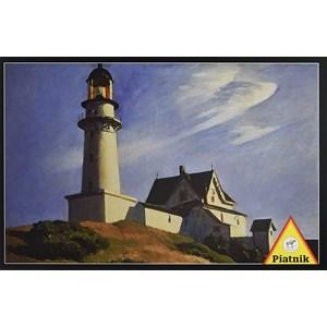 "Piatnik (538544) - Edward Hopper: ""Lighthouse at Two Lights"" - 1000 piezas"
