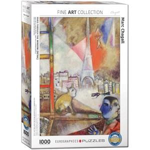 "Eurographics (6000-0853) - Marc Chagall: ""Paris Through the Window"" - 1000 piezas"