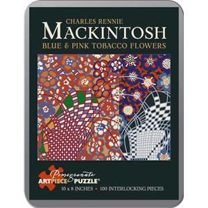 "Pomegranate (AA795) - Charles Rennie Mackintosh: ""Blue and Pink Tobacco Flowers"" - 100 piezas"