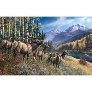 """SunsOut (28448) - James Meger: """"Elk Anthem"""" - 1000 piezas"""