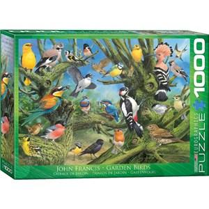 """Eurographics (6000-0967) - John Francis: """"Garden Birds"""" - 1000 piezas"""