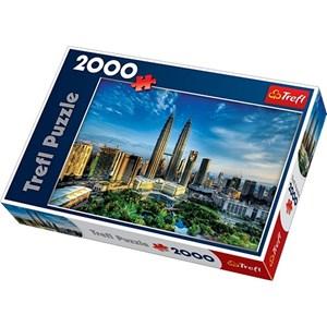 "Trefl (270754) - David Cheong: ""Petronas Twin Towers, Malaysia"" - 2000 piezas"