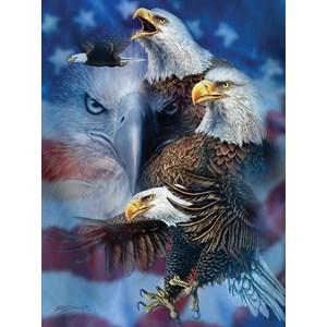 """SunsOut (46530) - Steven Michael Gardner: """"Patriotic Eagles"""" - 1000 piezas"""