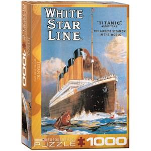 "Eurographics (6000-1333) - ""White Star Line Titanic"" - 1000 piezas"