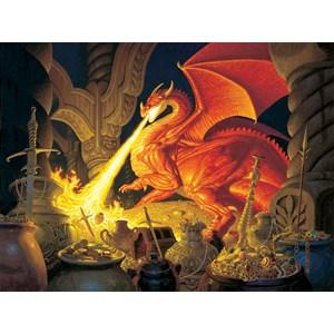 """SunsOut (75570) - Greg Hildebrandt: """"Smaug Dragon"""" - 1000 piezas"""