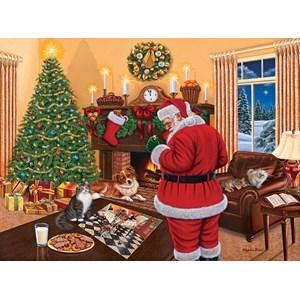 """SunsOut (45865) - Higgins Bond: """"Santa Solves the Puzzle"""" - 1000 piezas"""
