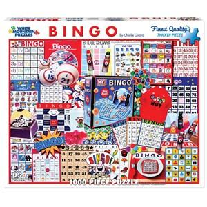 """White Mountain (1087PZ) - Charlie Girard: """"Bingo"""" - 1000 piezas"""