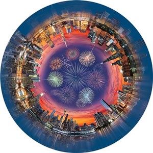 """A Broader View (361) - """"City Central (Round Table Puzzle)"""" - 500 piezas"""