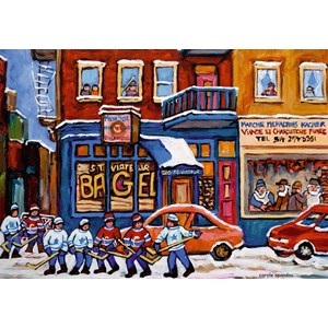 "Ravensburger (19534) - ""St. Viateur Bagel & Hockey"" - 1000 piezas"