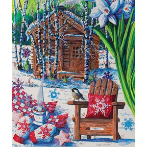 "SunsOut (14606) - Diane Phalen: ""Mountain Cabin Fever"" - 550 piezas"