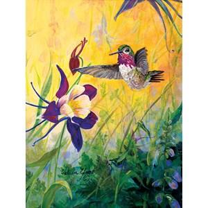 """SunsOut (55102) - Valeria Yost: """"Visitor to My Garden"""" - 300 piezas"""