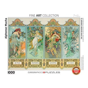 "Eurographics (6000-0824) - Alphonse Mucha: ""Four Seasons"" - 1000 piezas"