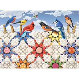 "SunsOut (24210) - Rebecca Barker: ""Feathered Stars"" - 500 piezas"