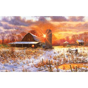 "SunsOut (44223) - Bill Makinson: ""Snow Barn"" - 550 piezas"