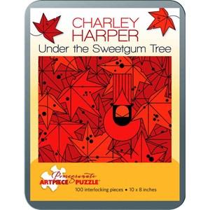 "Pomegranate (AA762) - Charley Harper: ""Under the Sweetgum Tree"" - 100 piezas"