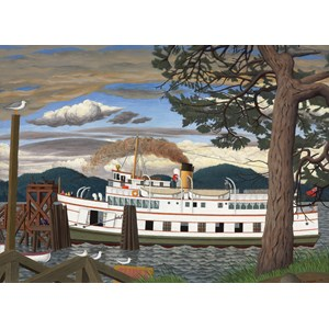 """Cobble Hill (51016) - EJ Hughes: """"The Car Ferry at Sidney BC"""" - 1000 piezas"""