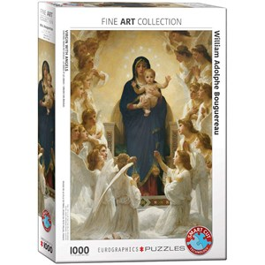 "Eurographics (6000-7064) - William-Adolphe Bouguereau: ""Virgin with Angels"" - 1000 piezas"