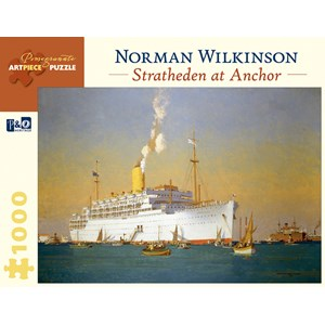 "Pomegranate (AA842) - Norman Wilkinson: ""Stratheden At Anchor"" - 1000 piezas"
