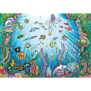 "Buffalo Games (3845) - Johanna Basford: ""Beneath the Waves"" - 500 piezas"