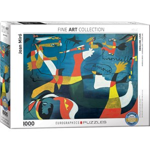 "Eurographics (6000-0859) - Joan Miro: ""Swallow, Love"" - 1000 piezas"