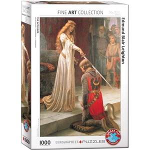 "Eurographics (6000-0038) - Edmund Blair Leighton: ""The Accolade"" - 1000 piezas"