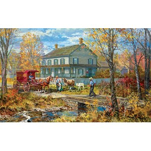 "SunsOut (54637) - Peter Snyder: ""Autumn at the Schneider House"" - 300 piezas"