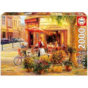 "Educa (17130) - Haixia Liu: ""Corner Café"" - 2000 piezas"