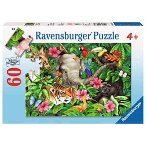 "Ravensburger (09533) - Jane Maday: ""Tropical Friends"" - 60 piezas"