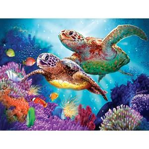 """SunsOut (70930) - Steve Sundram: """"Turtle Guardian"""" - 1000 piezas"""