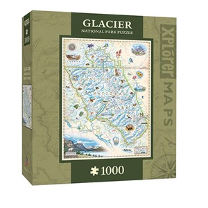 "MasterPieces (71704) - Chris Robitaille: ""Glacier National Park"" - 1000 piezas"
