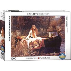 "Eurographics (6000-1133) - John William Waterhouse: ""The Lady of Shalott"" - 1000 piezas"