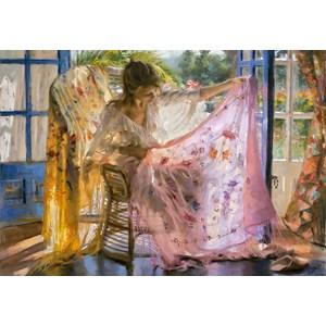"""Educa (16314) - Vicente Romero: """"Pink Shawl Vincente Romero"""" - 2000 piezas"""